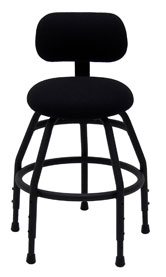 H5 harp stool with back support