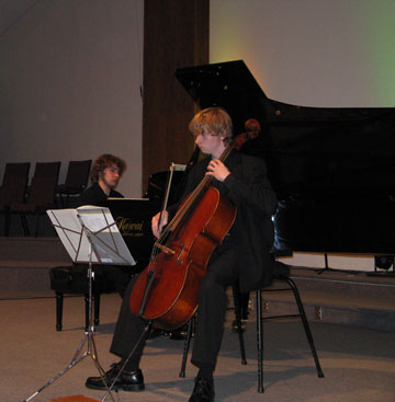 Chadd playing cello