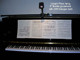 upright piano light